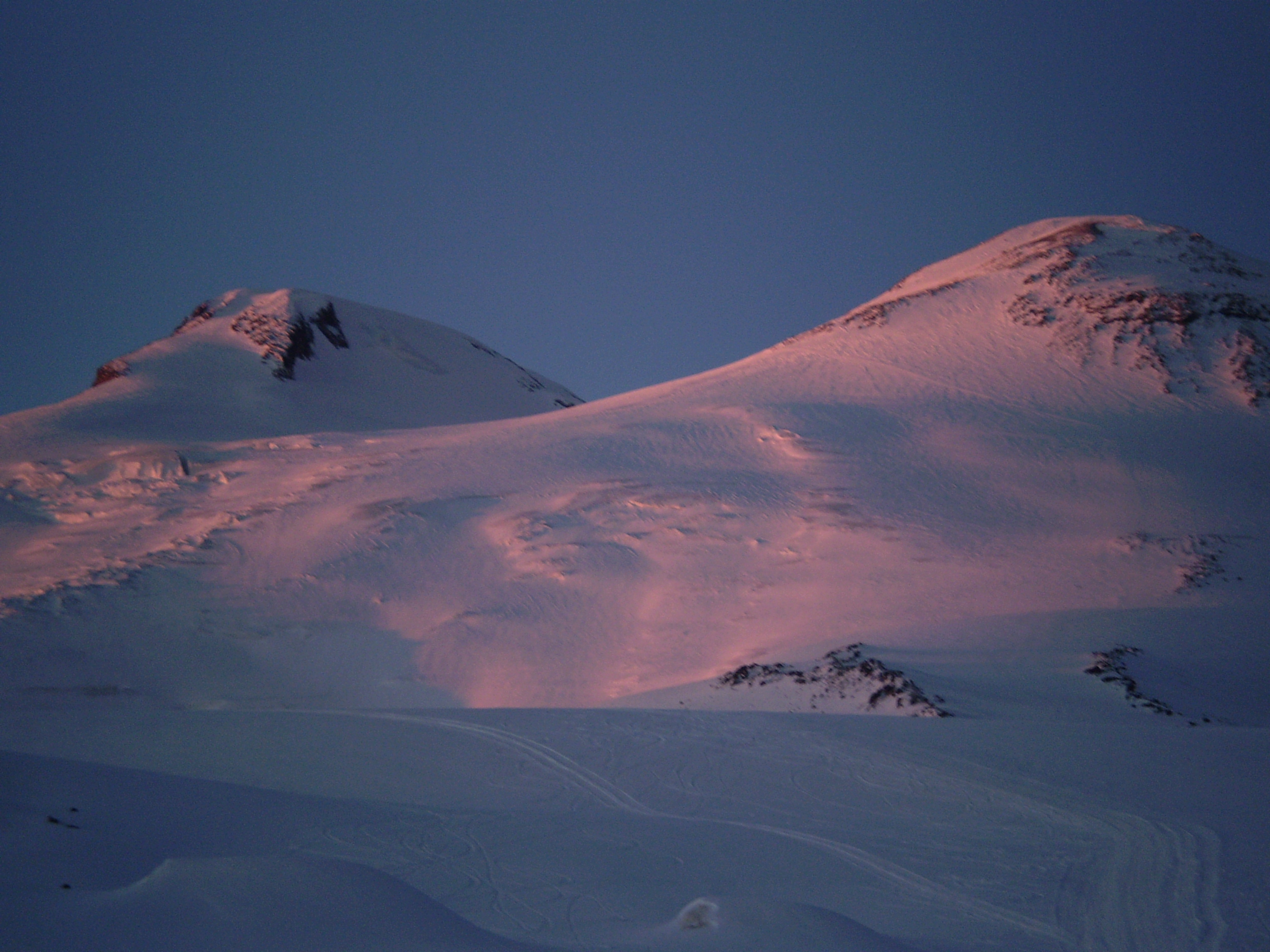 Mt. Elbrus at sun set