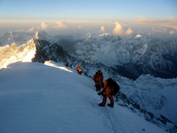 The Summit Ridge of Mt. Everest